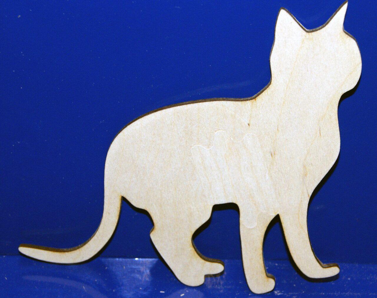 Фигурки кошек из фанеры