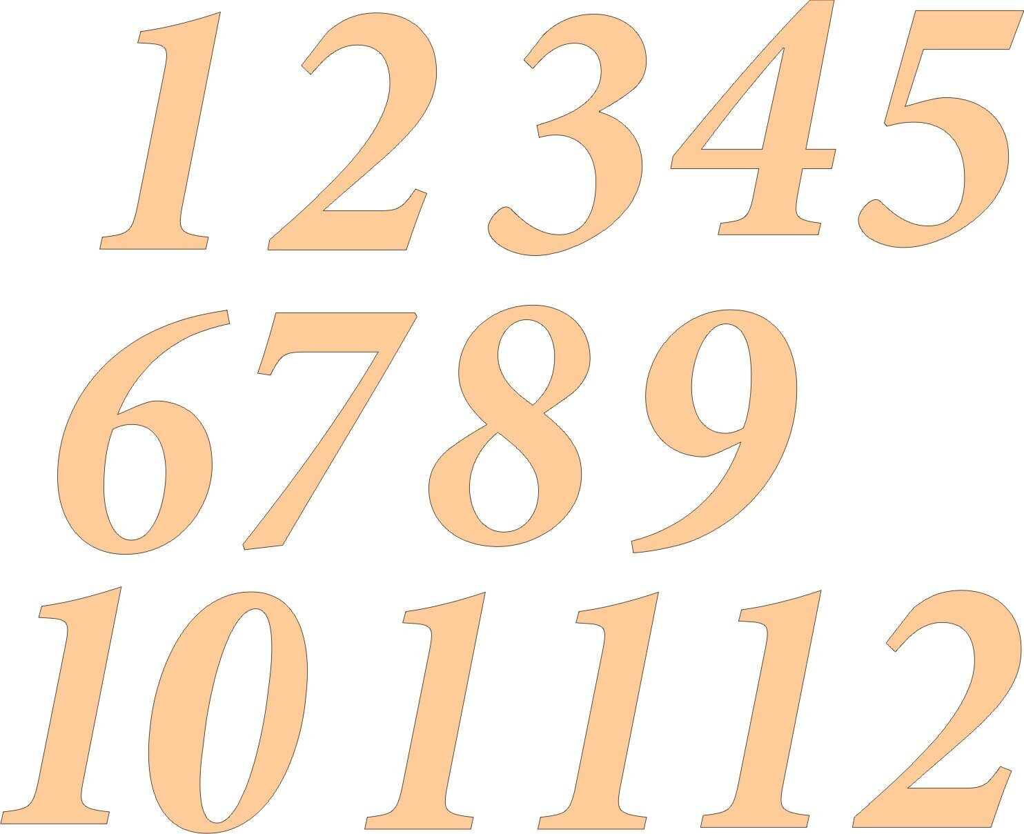 Цифры для часов